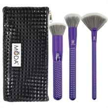 MODA Metallics 4pc Blended Beauty Kit Purple
