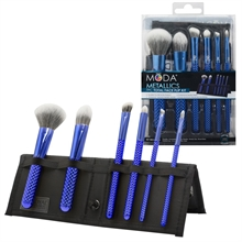 MODA Metallics 7pc Blue Total Face Kit