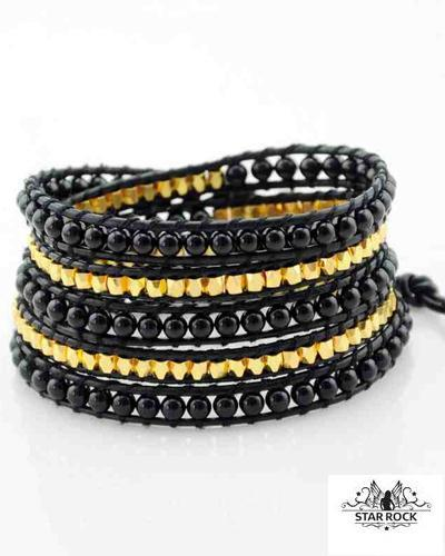 Image of   Bowery wrap armbånd onyx