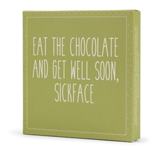 Konnerup & Co - Chokoladeplade Eat the chocolate and get well soon, sickface 50g