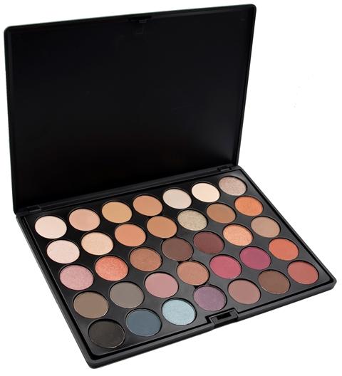 Image of   Crown Pro 35 Colour Timeless Eyeshadow Palette m. GRATIS SSo21 Blending brush.