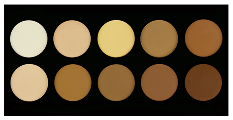 Image of   Crown Pro 10 Colour Pressed Powder Contour Palette