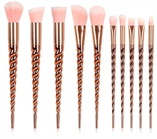 Star Unicorn Rosegold 10  Makeup Brush set